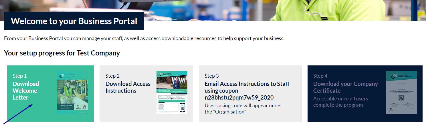 10 Business Portal Step 1